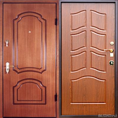 металлические двери с отделкой в г коломна купить