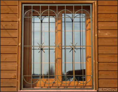 Решетка на половину окна