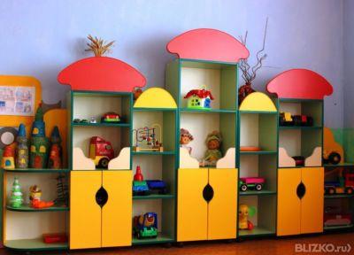 Стенка игровая для детского сада лдсп разноцветная от компан.