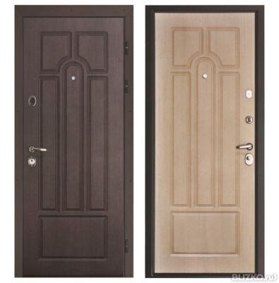 входные металлические двери цвет беленый дуб