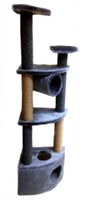 Домик-когтеточка 4-х уровн. угловой Аксиома